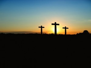 sunset - 3 crosses